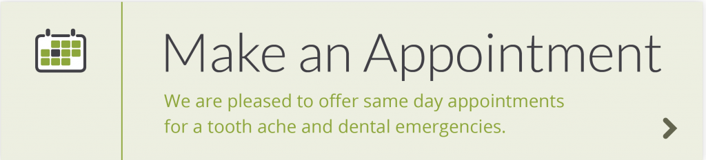 All About Smiles offers same day appointments for tooth aches and dental emergencies